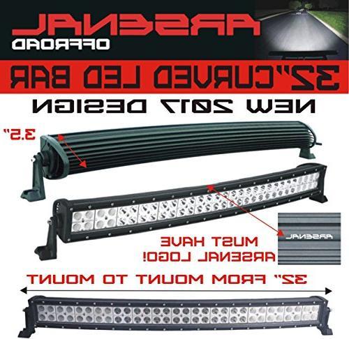 "#1 32"" Offroad 30"" LED's Combo 180w 18,000LM Polaris RZR UTV Raptor Jeep Bumper"