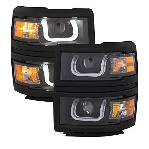 111385 projector headlight set w u bar