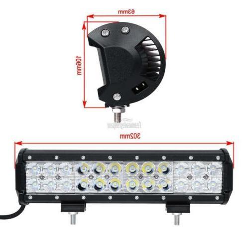 12inch 72W LED Light Bar Work SPOT Combo 4WD CAR