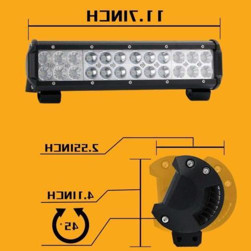 12inch 72w LED Bar Flood Combo Beam 4wd ATV UTV Truck