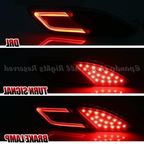 EpandaHouse 16-17 HR-V Bumper Red Brake Lights Optic Bar USA