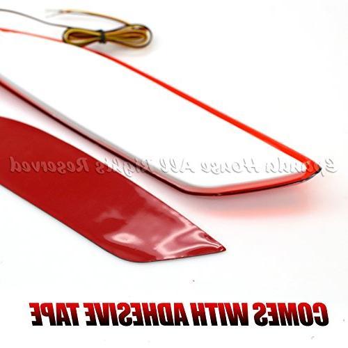 EpandaHouse For 16-17 Honda HR-V Bumper Reflector Red High LED Brake Optic Bar
