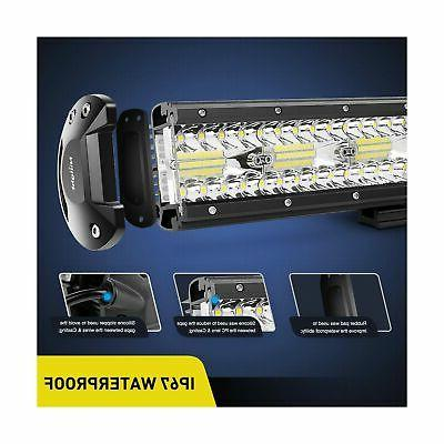 Nilight 18024C-A 420W Triple Row Flood Combo ...