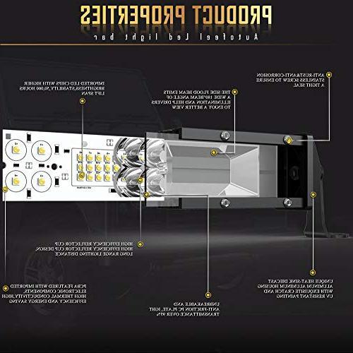 Autofeel 2-Row LED Light Bar Combo Beam Off Light Led Driving bar