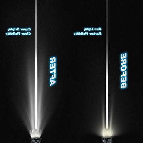 Nilight Flood Spot Combo Fog Light Led Light Bar Work Light SUV Boat 4x4 Je