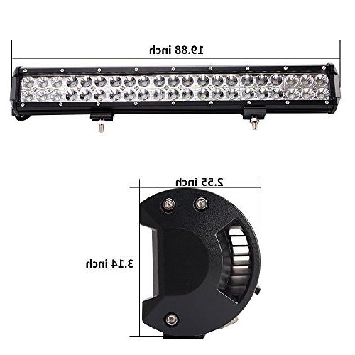 Bangbangche inch Flood Spot Combo Light Bar 10FT Fuse 2X 18W Spot Led Pods Honda Truck Warranty