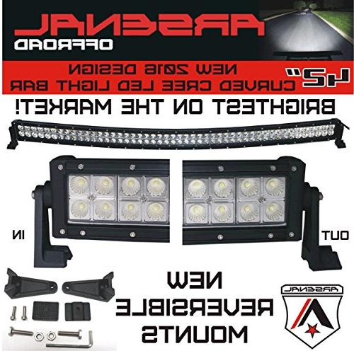2016 Curved CREE Light Bar by Arsenal Offroad TM spot combo beam Offroad Trucks radius fog, Trucks, SUV 4x4 1000 RZR, BAR