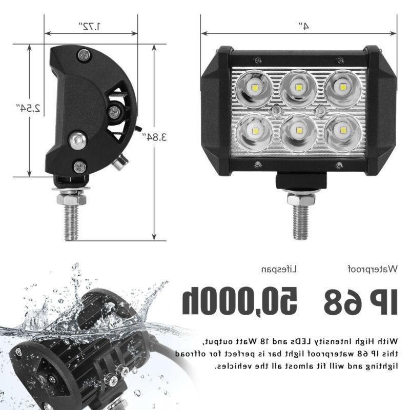 24inch LED Light Spot 2x Jeep UTE 20