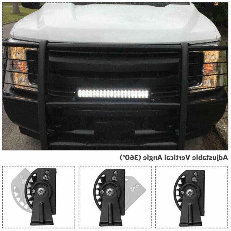 "24inch LED Spot Flood Combo 2x 4"" Jeep UTE"