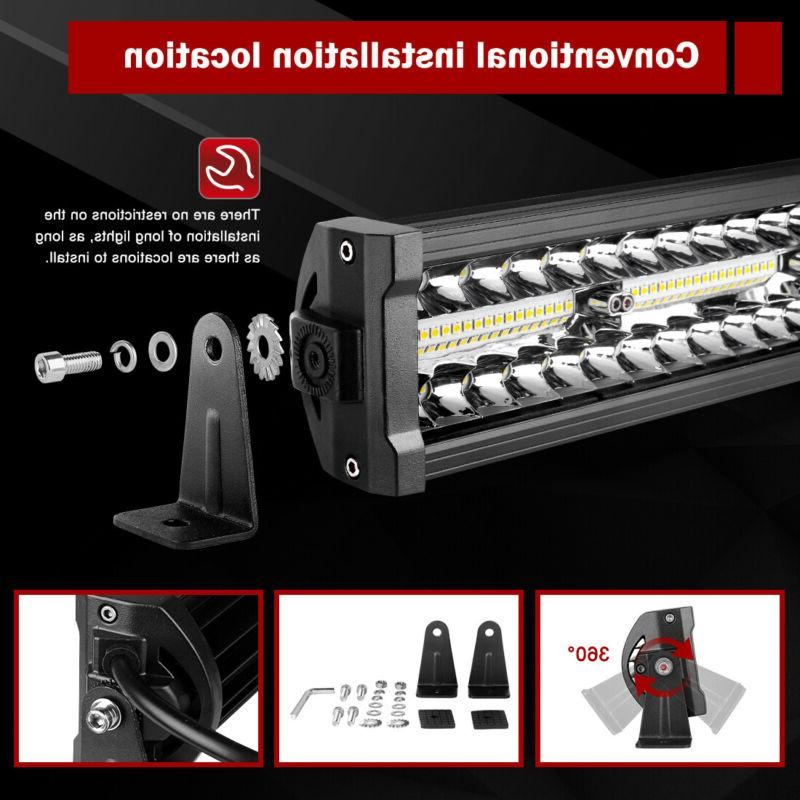 "22"" LED LIGHT BAR FLOOD TRUCK"
