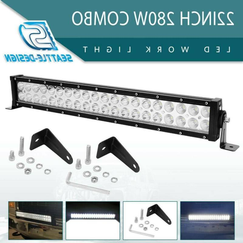 22inch 280w combo led light bar off