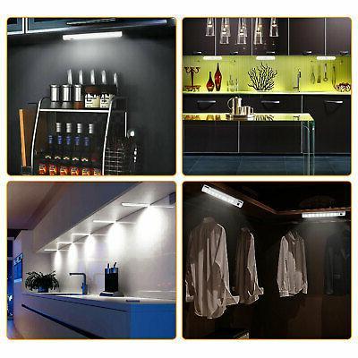 2pc Cabinet Shelf LED Bar Lighting Kit Cupboard Lamp