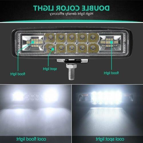 2x LED WORK OFFROAD ATV FOG TRUCK LAMP 4WD 12V