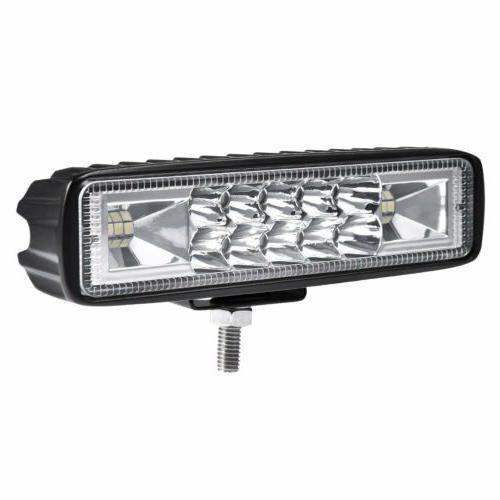 "2x 6INCH LED WORK SPOT OFFROAD ATV TRUCK LAMP 4WD 12V 6"""