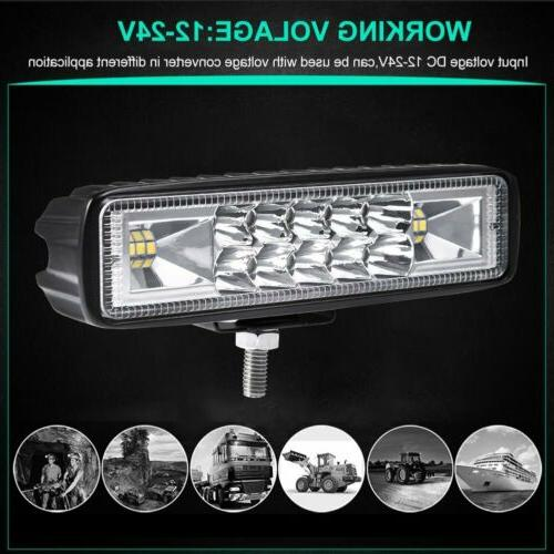 2x LED WORK BAR OFFROAD TRUCK LAMP 4WD