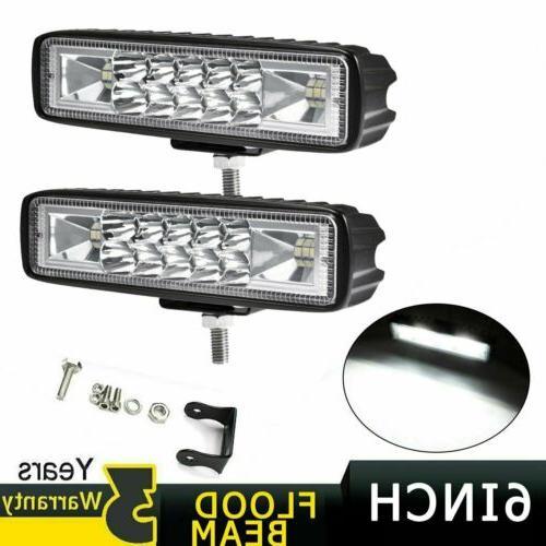 2x 6inch 36w led work light bar