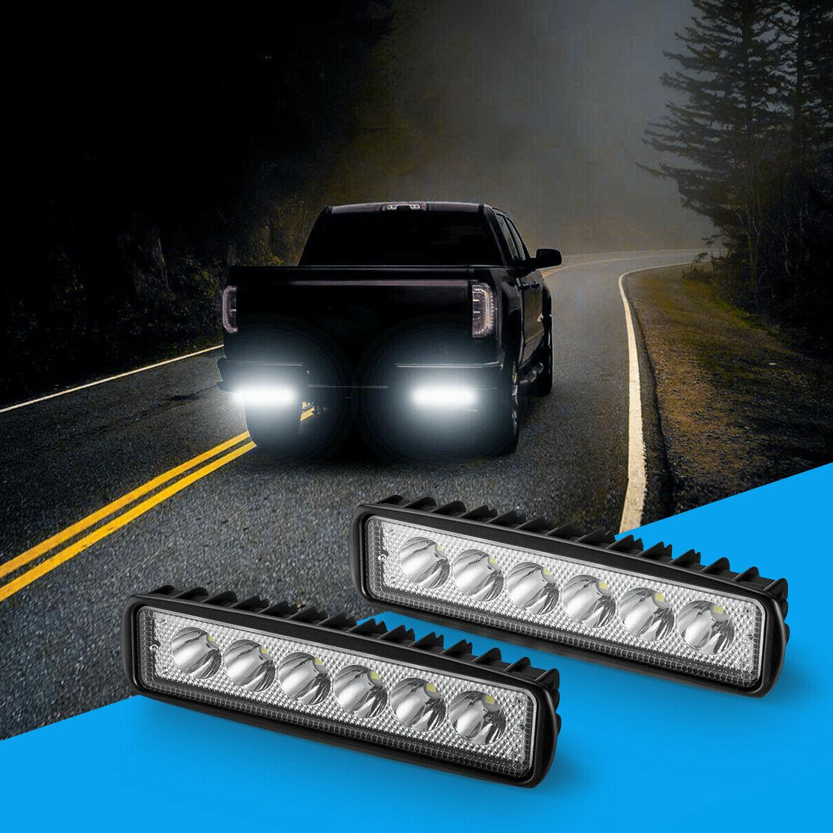 2x 6INCH WORK LIGHT OFFROAD FOG TRUCK