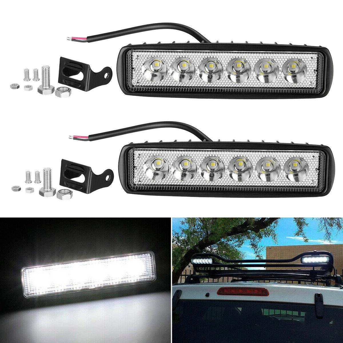 2x 6inch 36w led work light bar