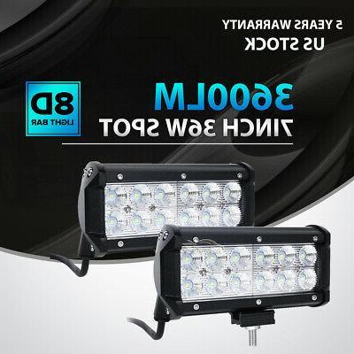 2x 7inch 36w led work light bar