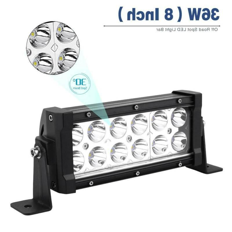 2X 8INCH LED WORK LIGHT BEAM FOG