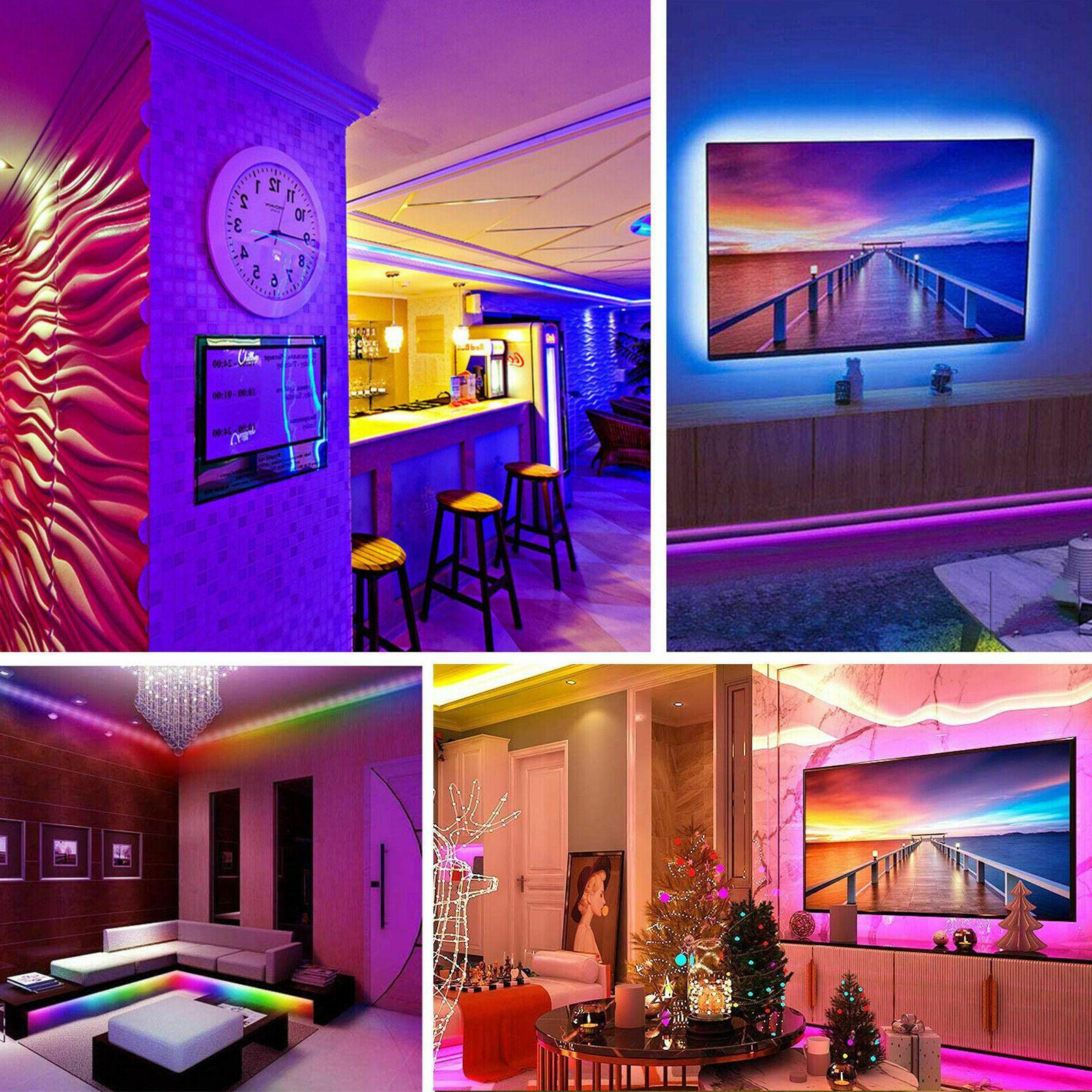 32FT Flexible LED Light Remote Fairy TV Bar