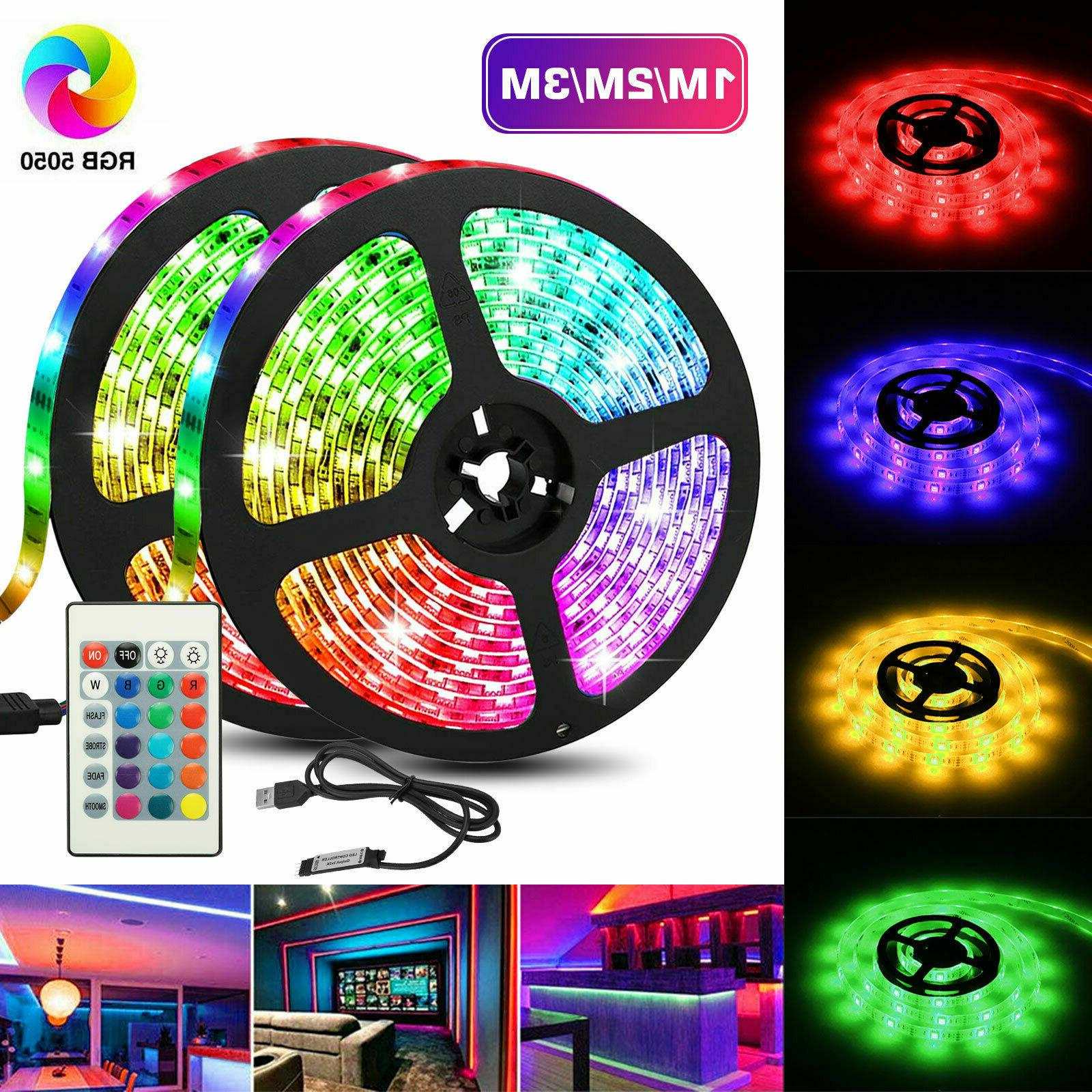 Flexible RGB LED Fairy Lights TV Party Bar~