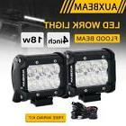 "AUXBEAM 4"" 18W CREE LED LIGHT BAR FLOOD BEAM WORK LAMP POD D"