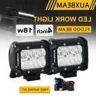 "AUXBEAM 4"" 18W CREE LED LIGHT BAR FLOOD BEAM WORK LAMP POD D"