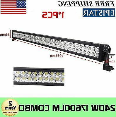 42in 240w led work light bar spot