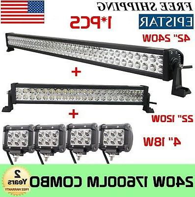 42Inch LED Light Combo CREE OFFROAD 4WD FORD 40