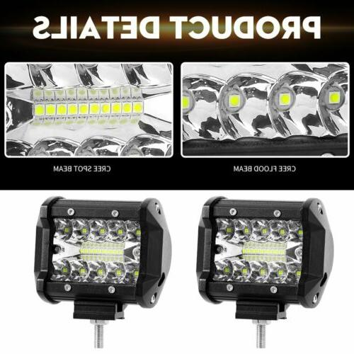4x LED Work Bar Spot Road Truck