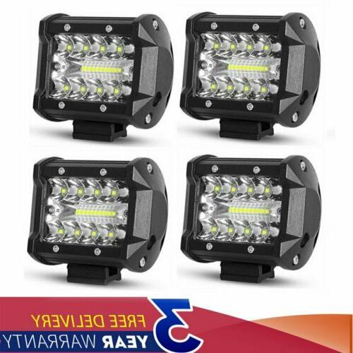 4x 4 inch cree led work light