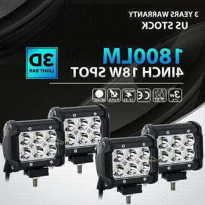 4x 4inch 72w led work light bar