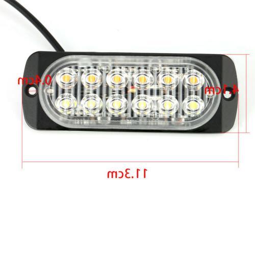 4 x12 LED Truck Emergency Beacon Warning Hazard Strobe Light