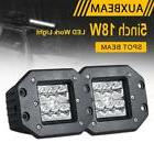 "AUXBEAM 5"" 18W FLUSH MOUNT SPOT LED WORK LIGHT BAR POD LAMP"
