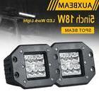 """AUXBEAM 5"""" 18W FLUSH MOUNT SPOT LED WORK LIGHT BAR POD LAMP"""