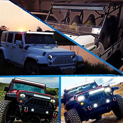 "52"" 300W Combo Offroad Light Bar W/ Pods Driving Lamp Top Windshield For Ford Truck"