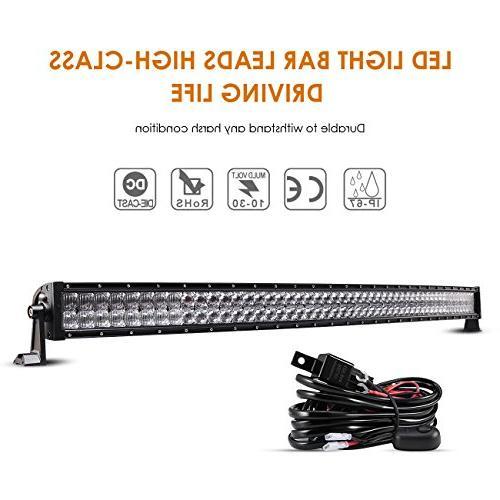 52 inch led light bar curved 300w
