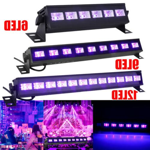 6/9/12LED UV LED Black Light Bar Super Bright DJ Party Club