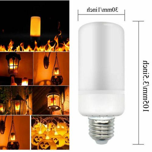 6 Pack Effect Simulated Fire Light Bulbs Hotel Bar
