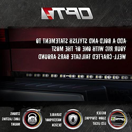 "OPT7 60"" Tailgate Light Bar TriCore - Rigid - Featured Running"