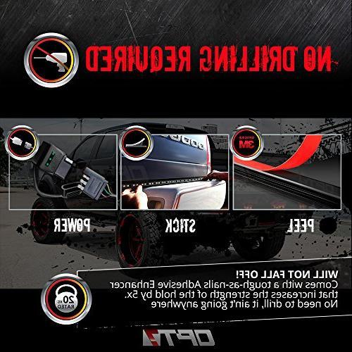 """OPT7 60"""" Redline LED Tailgate Light TriCore LED - Rigid Aluminum - Full Running -"""