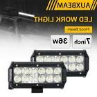 "AUXBEAM 7"" 36W CREE LED WORK LIGHT BAR FLOOD BEAM DRIVING TR"