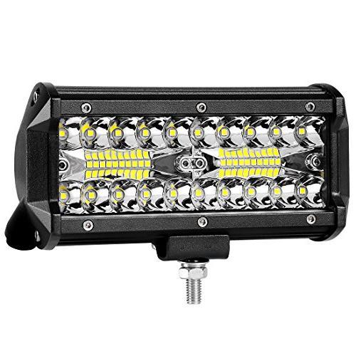 7 led light pod 120w triple row