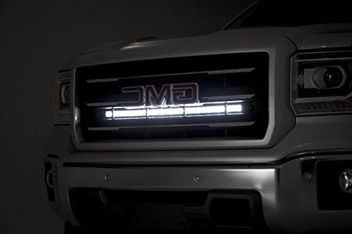 Rough Country - Single LED Light Grille Mount Series Light Bar GMC: 1500 4WD/2WD