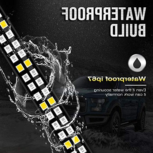 AMBOTHER Tailgate Light Double Row LED Strip Turn Signal Tail Pickup Trailer SUV Car Towing warranty