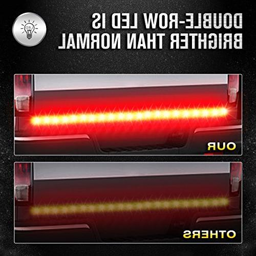 "AMBOTHER 60"" Truck Tailgate LED Flexible Running Turn Signal Tail for Trailer RV VAN Car warranty"