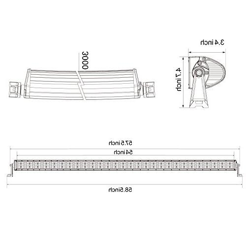 Curved Light Bar, OFFROADTOWN Quad Row Lights Driving Work for Jeep SUV UTE Trucks