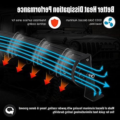 Curved LED Bar YITAMOTOR 50 5D Spot Flood LED Work Light 5D With Harness Off Fog Light Jeep Light Boat 2 Years