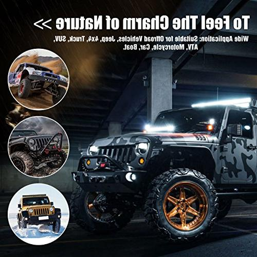 Curved Bar YITAMOTOR 384W 50 5D Spot LED Pod LED Work With Harness Road Driving Fog Jeep Light Warranty
